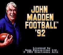 John Madden Football 92