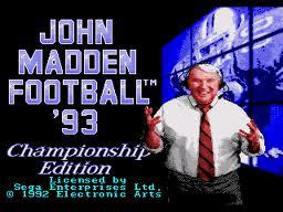 John Madden Football 93 - Championship Edition