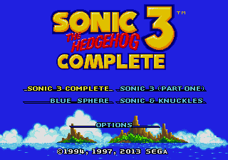 Sonic the Hedgehog 3 Complete